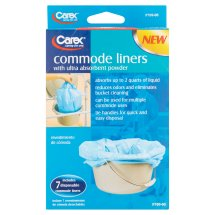 Carex Commode Liners, 7ct