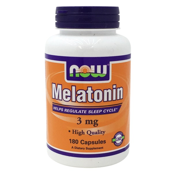 Now Melatonin 3mg Helps Regulate Sleep Cycle Capsule