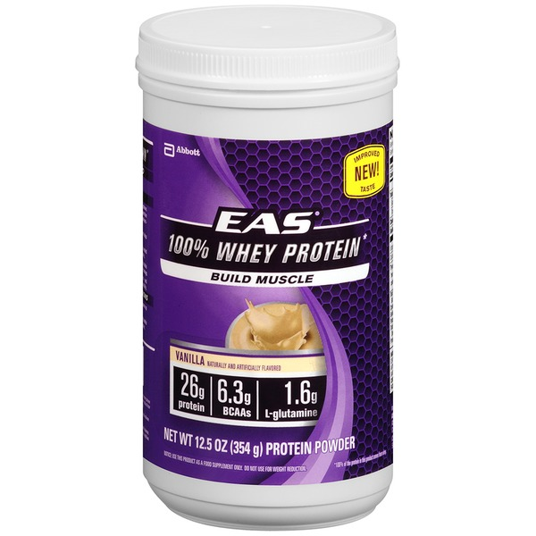EAS 100% Whey Protein Powder Vanilla Dietary Supplement