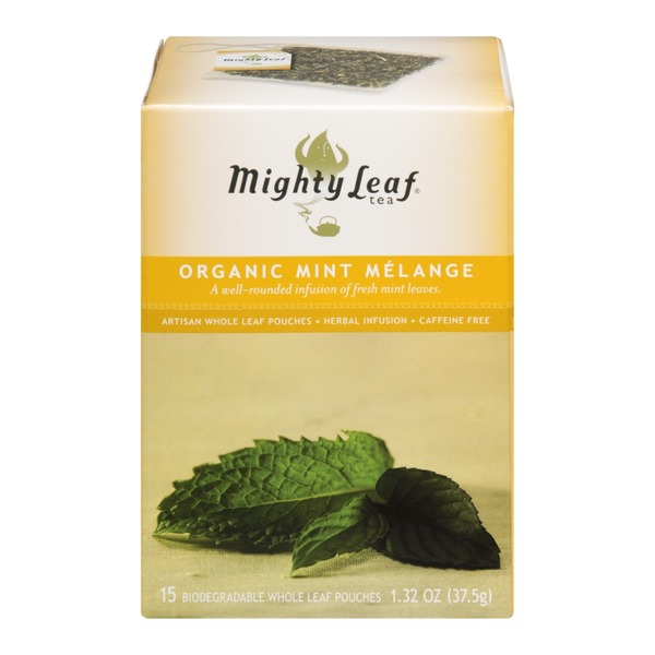 Mighty Leaf Organic Mint Melange Tea, Caffeine Free