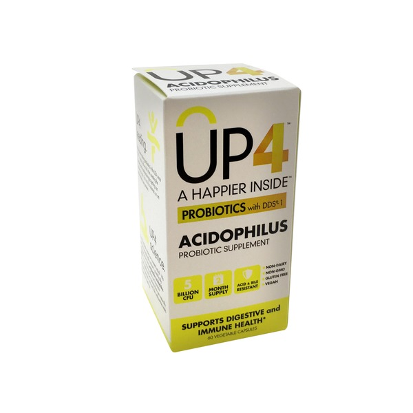 UP4 Probiotics with DDS-1, Acidophilus, Vegetable Capsules
