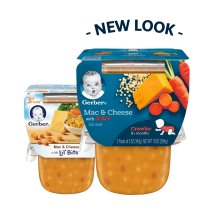 Gerber 3rd Foods Lil' Bits Mac & Cheese Dinner Baby Food, 5 oz Tubs, 2 Count
