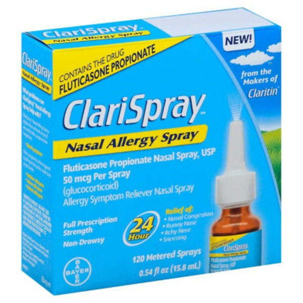 Clarispray Full Prescription Strength Nasal Spray Allergy Symptom Reliever