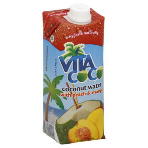 Vita Coco Pure Coconut Water with Peach & Mango