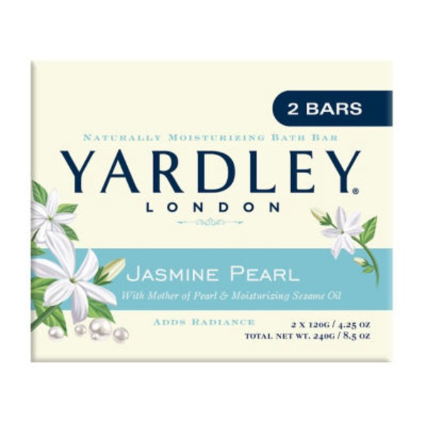 Yardley London Jasmine Pearl Naturally Moisturizing Bath Bar