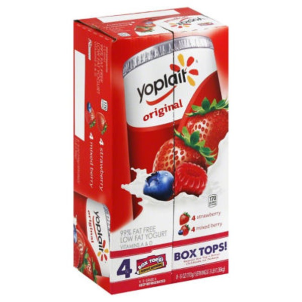 Yoplait Original Strawberry/Mixed Berry Variety Pack Low Fat Yogurt