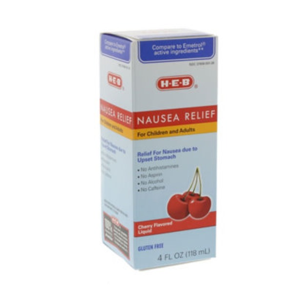 H-E-B Cherry Flavored Nausea Relief Liquid For Children And Adults