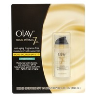 Olay Mixed Olay Total Effects Anti-Aging Moisturizer SPF 15 Fragrance Free 3.4oz w/ Bonus Olay Make Up Removal Wet Cloths (7 count) Female Skin Care