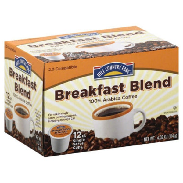 Hill Country Fare Breakfast Blend Single Serve Coffee Cups