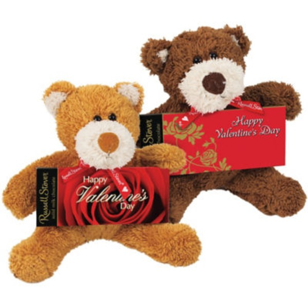 Russell Stover Valentines Bear With Romantic Chocolate Bar