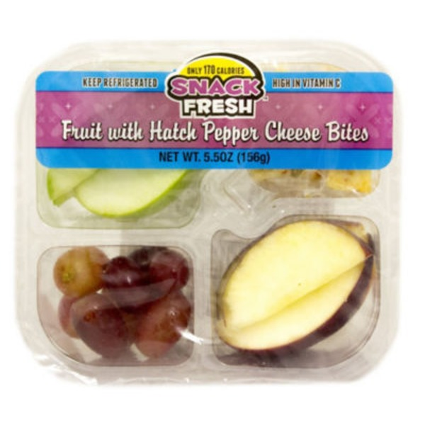 Snack Fresh Fruit With Hatch Pepper Cheese Bites