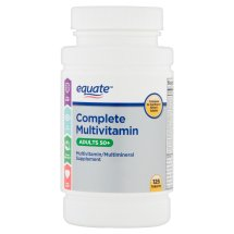 Equate complete multivitamin adults 50+ multivitamin/multimineral supplement tablets, 125 ct