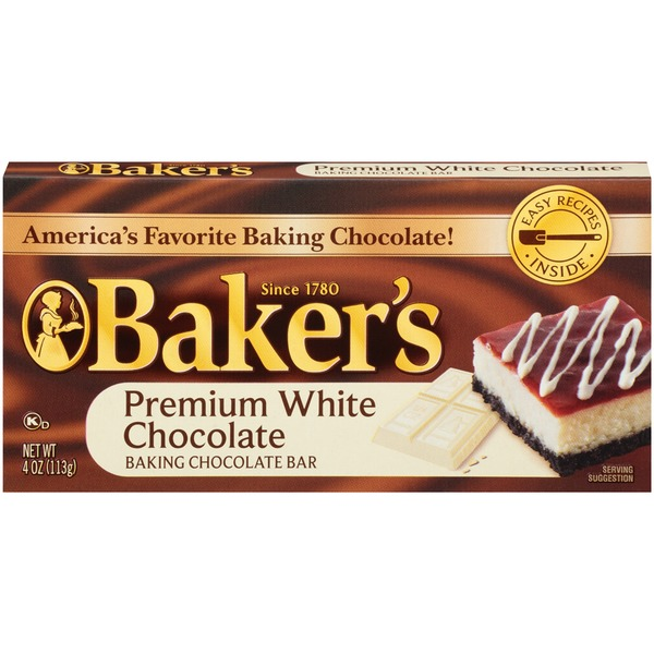 Baker's Premium White Chocolate Baking Chocolate Bar