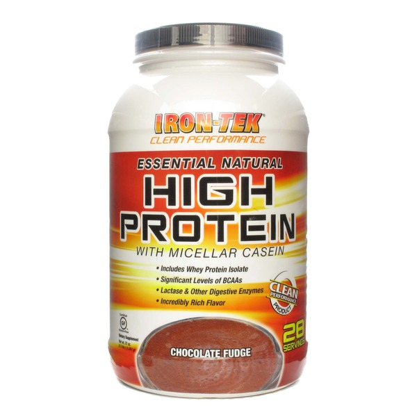 Iron-Tek Essential Natural High Protein with Micellar Casein Chocolate Fudge