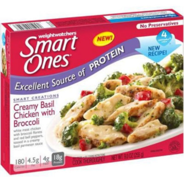 Weight Watchers Creamy Basil Chicken with Broccoli Tasty American Favorites