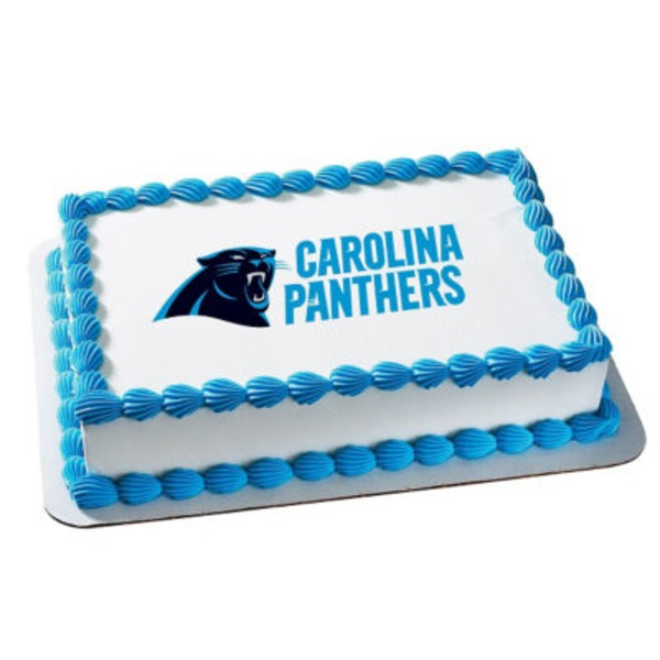 Carolina Panthers 1/2 Sheet Cake