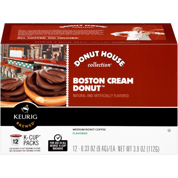 Donut House Collection Boston Cream Donut K-Cup Packs Coffee
