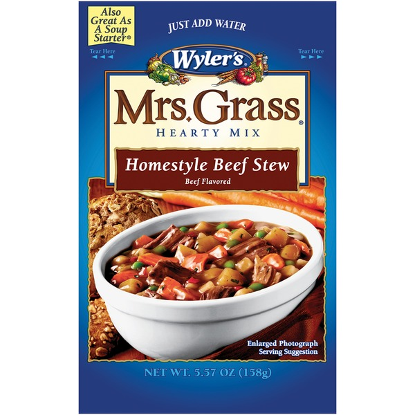 Wyler's Mrs. Grass Homestyle Beef Stew Hearty Soup Mix