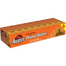 Austin Sandwich Crackers, Cheese with Peanut Butter, 1.38 Oz, 27 Ct
