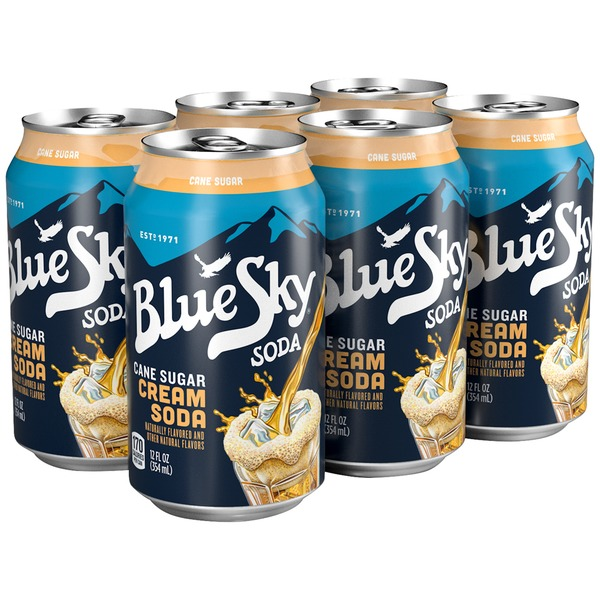 Blue Sky Cane Sugar Cream Soda Soda