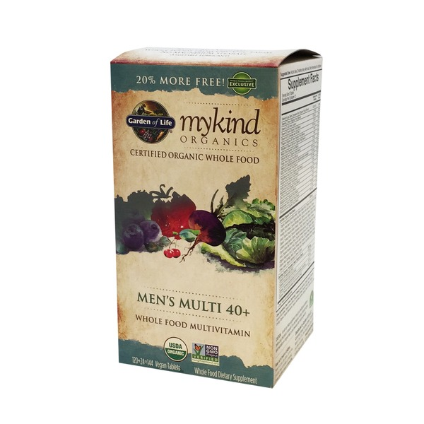 Garden of Life Kind Organics Men's Multi 40+ Whole Foos Multivitamin 144 ct