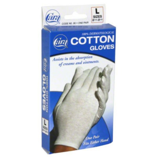 Cara Large Cotton Gloves