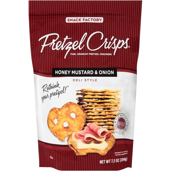 Pretzel Crisps Honey Mustard & Onion Deli Style Pretzel Crackers