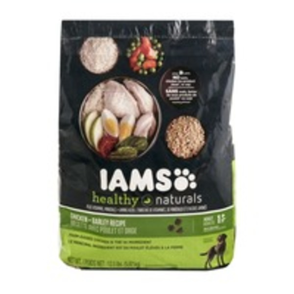 IAMS Healthy Naturals Dog Food Chicken + Barley Recipe