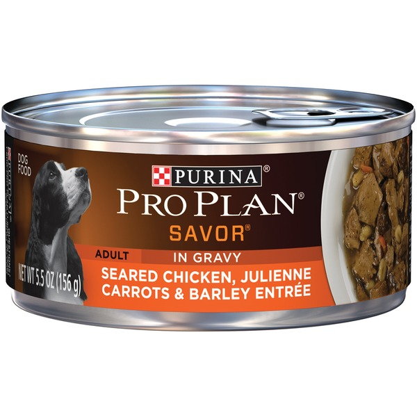 Pro Plan Dog Wet Savor Adult Seared Chicken Julienne Carrots & Barley Entree in Gravy Dog Food
