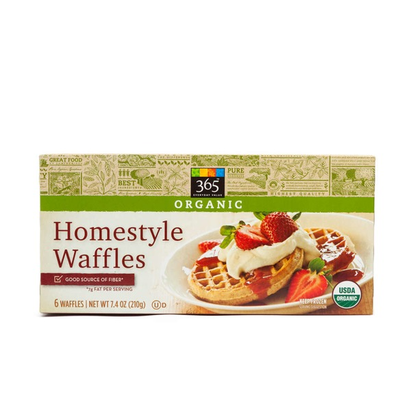 365 Organic Homestyle Waffles 6 Count