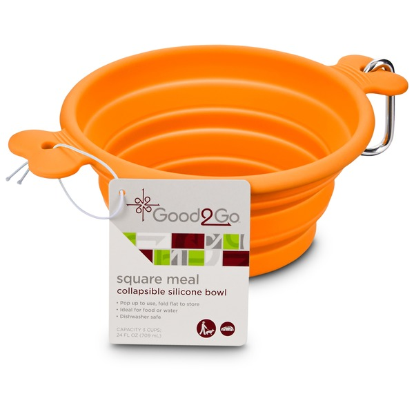 Good2 Go Square Meal Collapsible Silicone Bowl