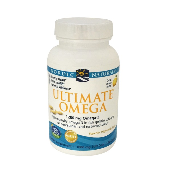 Nordic Naturals Ultimate Omega Fish Gelatin Fish Gelatin 1000 Mg Softgels