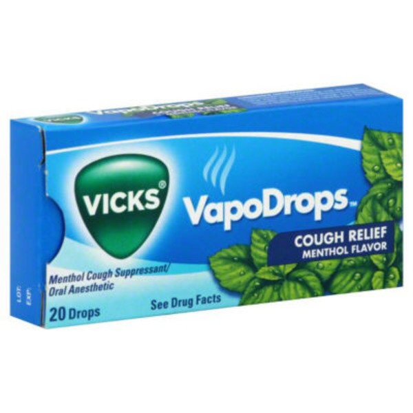 Vicks Menthol Flavor Cough Suppressant/Oral Anesthetic