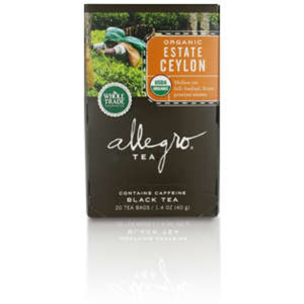 Allegro Organic Estate Ceylon, 20 Tea Bags
