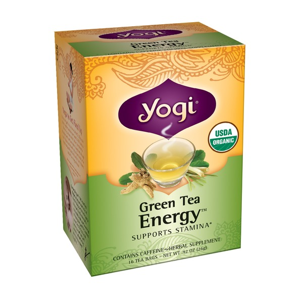 Yogi Organic Green Tea Energy Supports Stamina