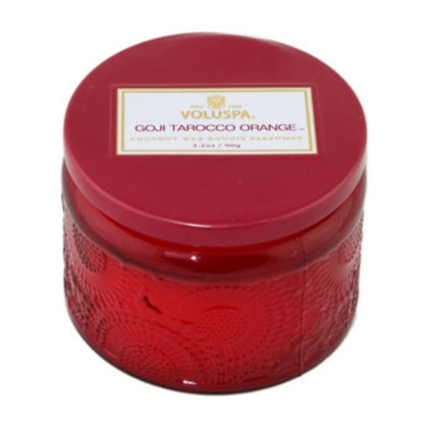 Voluspa Japonica Collection, Petite Candle in Colored Jar, Goji and Tarocco Orange