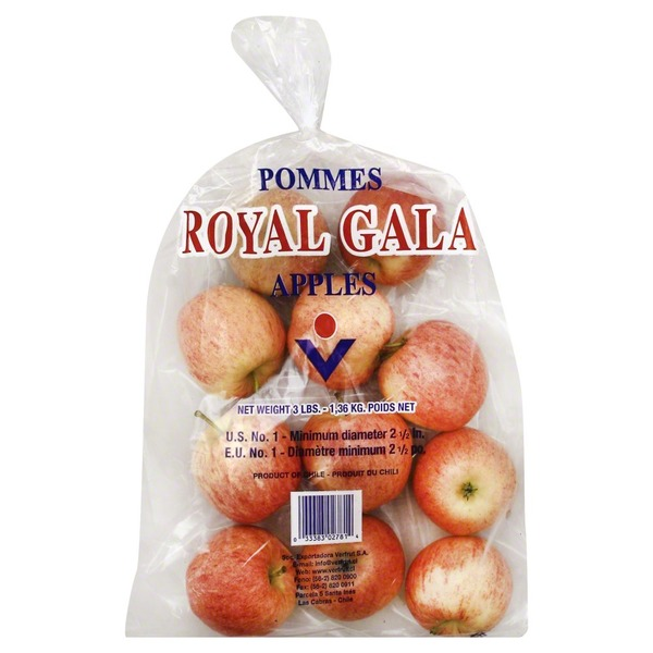 Organic Gala Apples, Bag