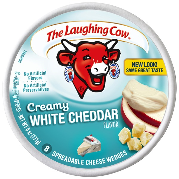 The Laughing Cow Creamy White Cheddar Flavor Wedges
