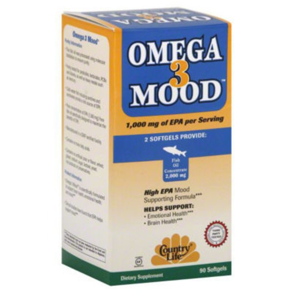 Country Life Omega 3 Mood Dietary Supplement
