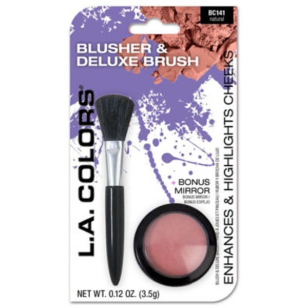L.A. Colors Blusher & Deluxe With Deluze Brush Natural