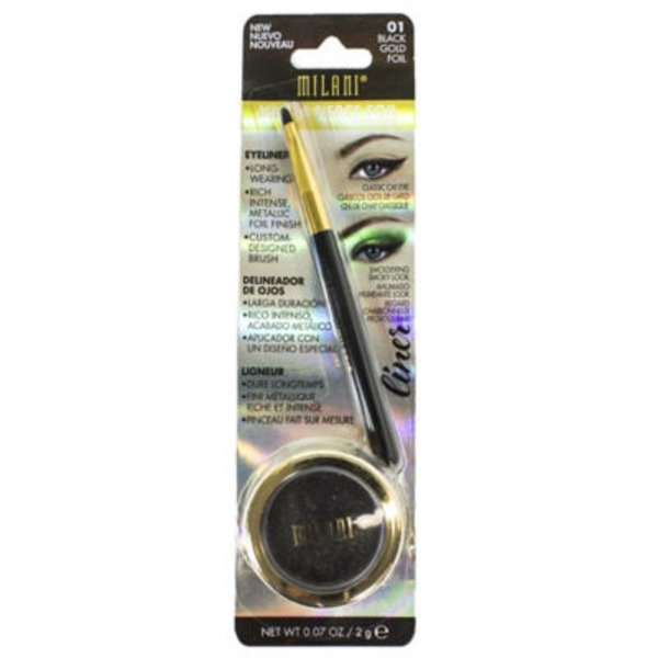 Milani Fierce Foil Eyeliner, Black Gold Foil