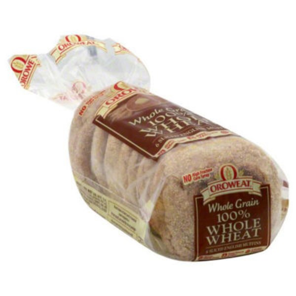 Oroweat 100% Whole Wheat Sliced English Muffins