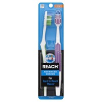 Reach Advanced Design Plaque Defense Toothbrushes