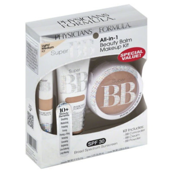 Super Bb Multi-Tasking Miracle All-in-1 Light/Medium Beauty Balm Makeup Kit