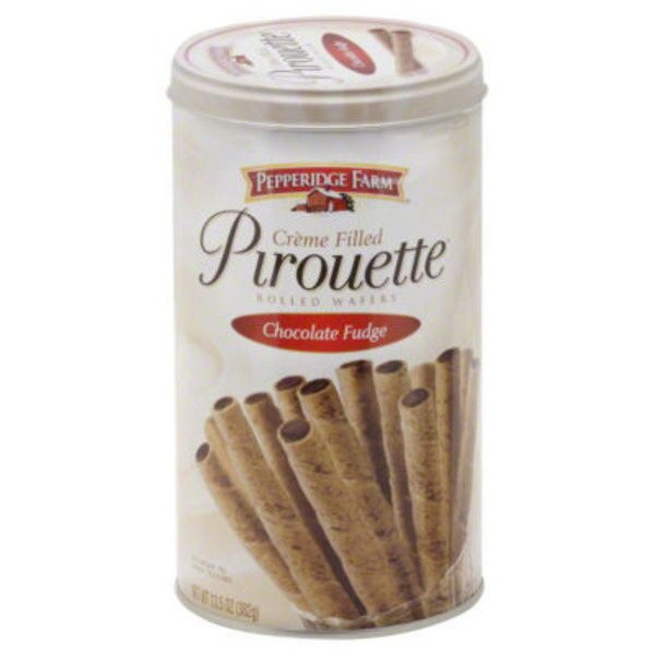 Pepperidge Farm Cookies Pirouette Chocolate Fudge Creme Filled Wafers