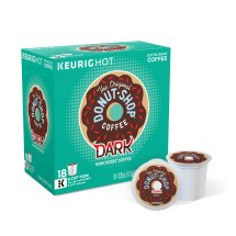 The Original Donut Shop Dark Keurig Single-Serve K-Cup Pods, Dark Roast Coffee, 18 Count
