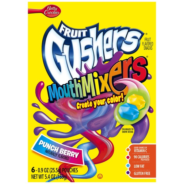 Betty Crocker Fruit Gushers Mouth Mixers Punch Berry Fruit Flavored Snacks
