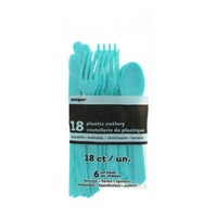 Unique Caribbean Teal Assorted Cutlery