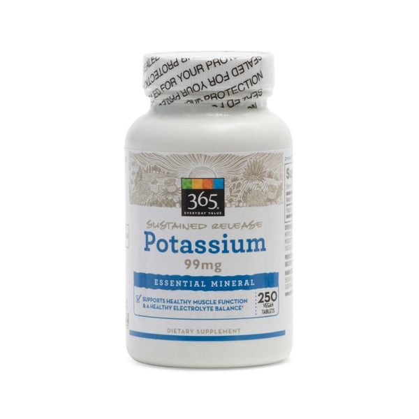 Whole Foods Market Potassium 99 mg Vegan Tablets