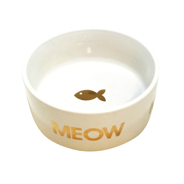 Harmony Gold Meow Ceramic 3 Cup Cat Bowl